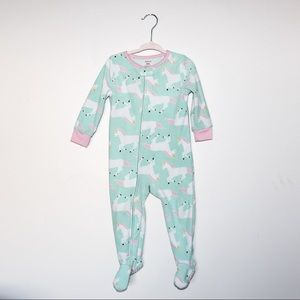 LOT 4 Carter's Fleece Footie PJ sz 24 mos.